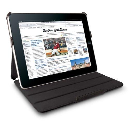 (Technocel Leather Flip Book Case/Folio for Apple iPad (1st Generation) (Black))