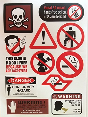 [Warning Car Stickers Luggage Sports Skateboard Laptop Vehicle Sticker Decals A4 Code27] (Lady Gaga Video Costumes)
