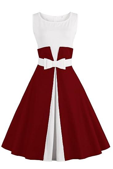 176b6f56e78b2 Robe de Soirée Cocktail Courte Rétro jointif Vintage 1950 Style Audrey  Hepburn Rockabilly Swing Grande Taille par Babyonlinedress  Amazon.fr   Vêtements et ...
