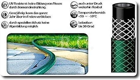 Wasserschlauch Gartenschlauch mit Sprengeranlagen Hauswasserwerk 1//2 25M