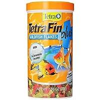 Tetra TetraFin PLUS Goldfish Flakes con Alga, 7.06 onzas
