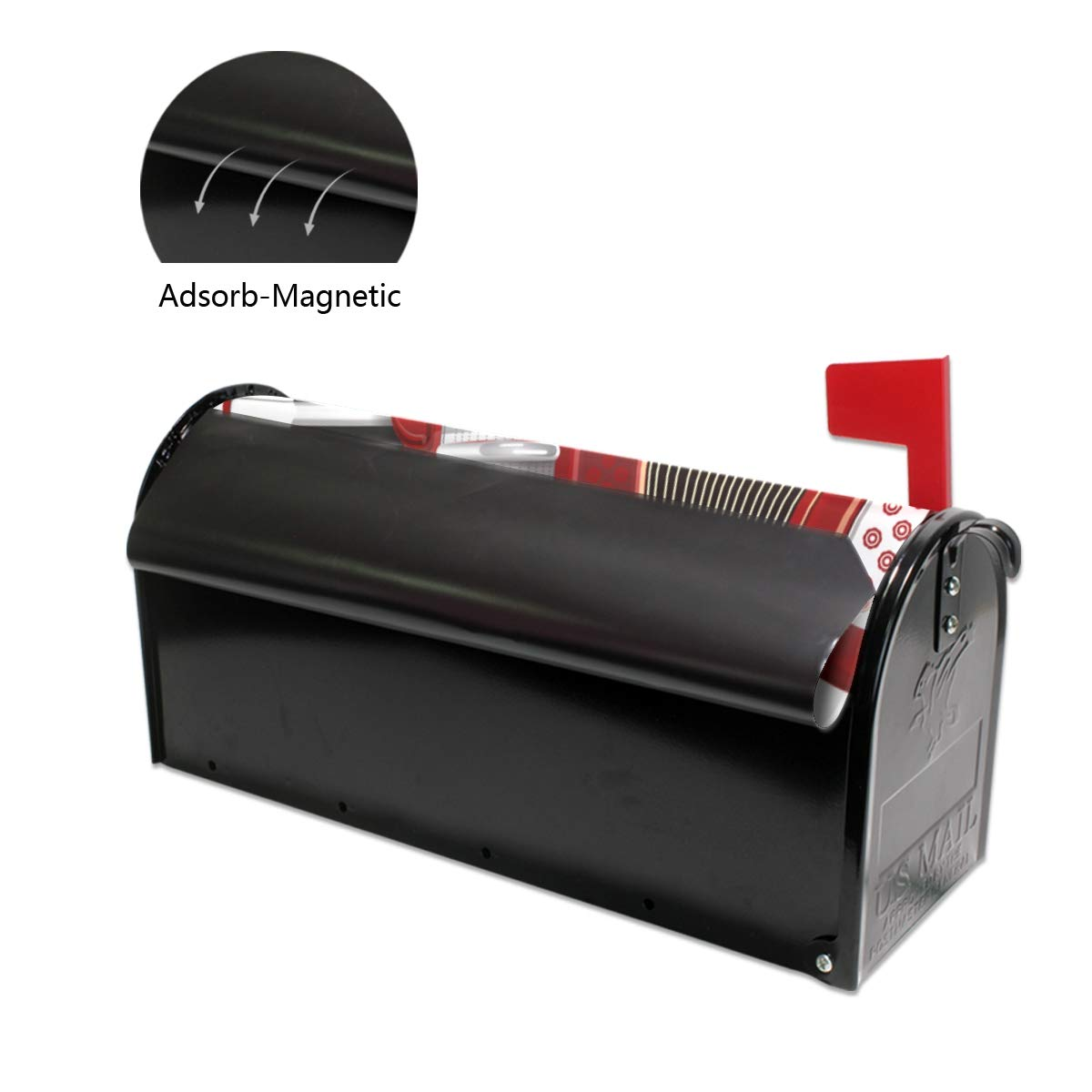 THKDSC Beautiful Melody Accordion Mailbox Covers Standard Size Original Magnetic Mail Cover Letter Post Box 21 Lx 18 W(only Mailbox Cover)