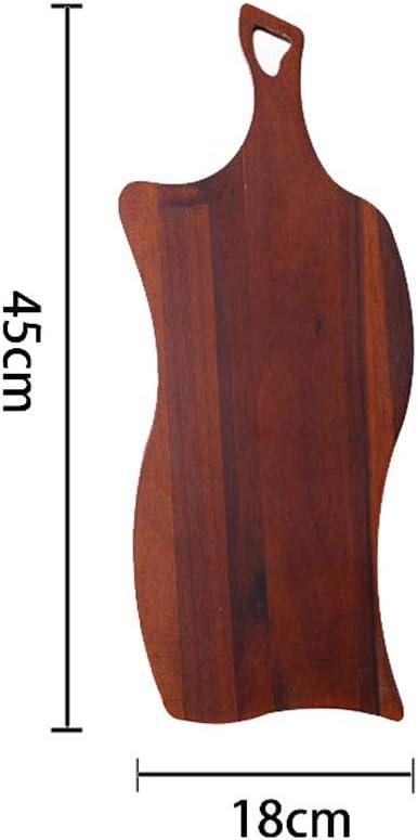 Charcuterie de madera maciza Tabla de quesos Placa de filete ...