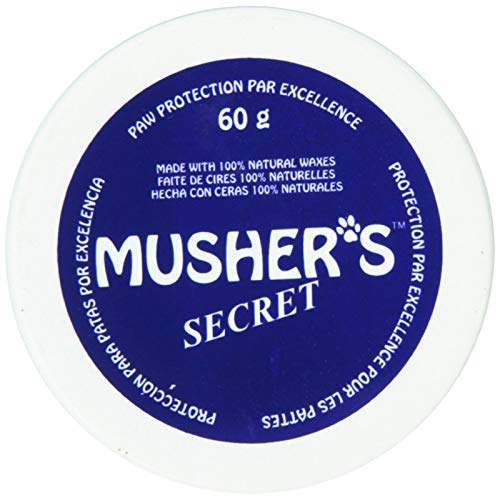 (Musher's Secret Dog Pet Puppy Paw Protection Wax Moisturizer Invisible Boots Snow 60g.)