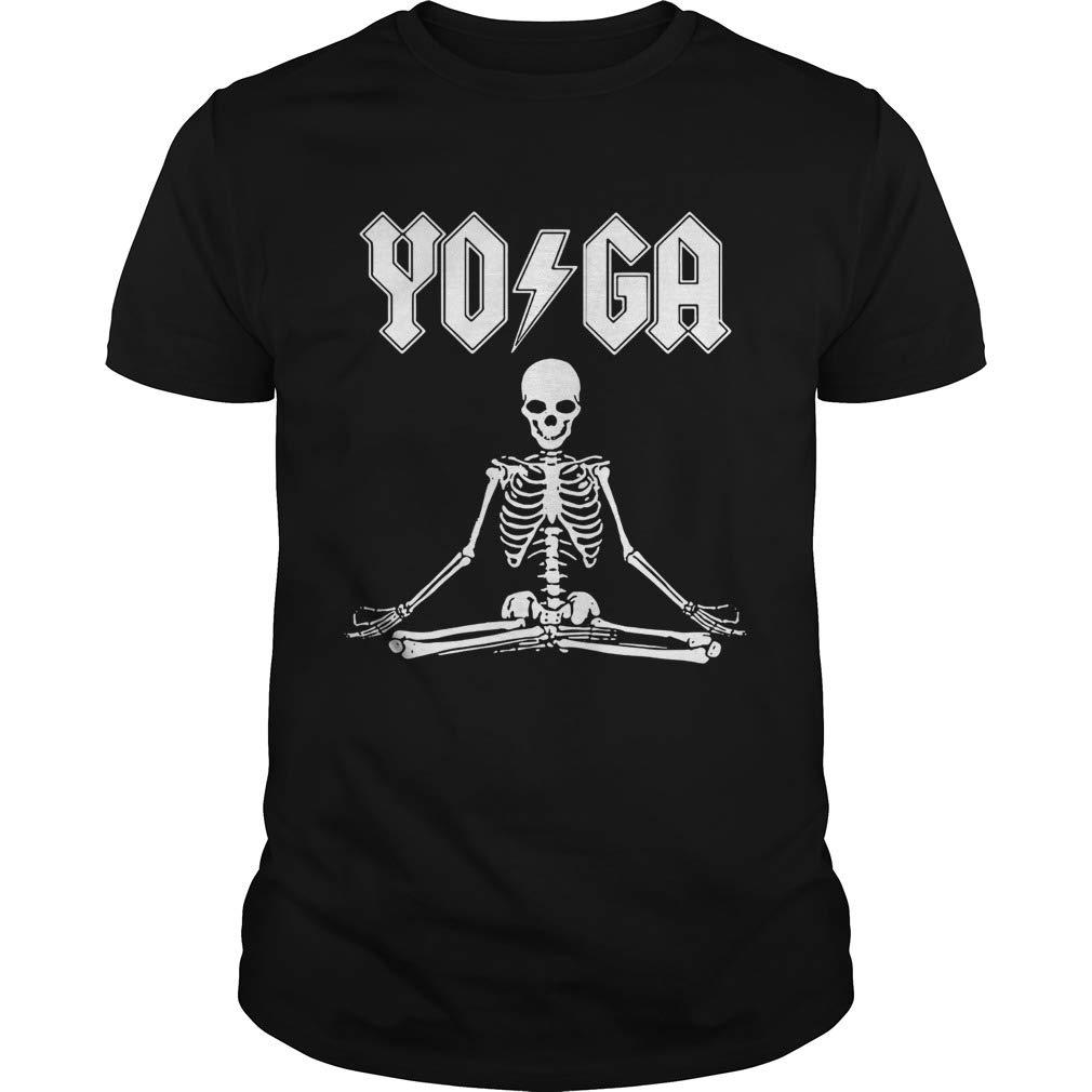 Amazon.com: ACDC Yoga skeleton shirt: Handmade