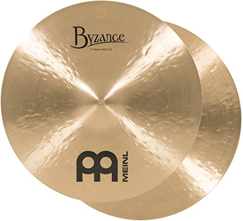 Meinl Cymbals B15MH Byzance 15-Inch Traditional Medium Hi-Hat Cymbal Pair (VIDEO)