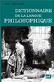 Image de Dictionnaire de la langue philosophique