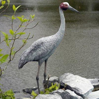 FRP動物オブジェ 湖畔の豪州鶴 / Brolga Crane B00EI44R8K