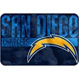 "NFL ""Worn Out"" Bath Mat, 20"" x 30"" - Most NFL Teams Available (San Diego Chargers)"