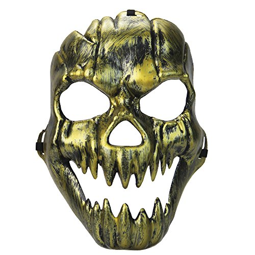 Dlife(TM) Fashion Scary Half Face Mask Cosplay Party Mask For Halloween Adult Children (Gold) ()