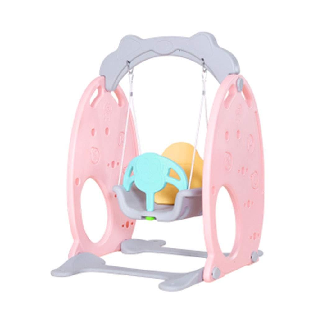 子ゲームハウス、ピンク多機能装飾赤ちゃんロッキングチェアスイング屋内遊び場リフト寝室家庭用スイング (色 : A) B07PQDT3R3 A