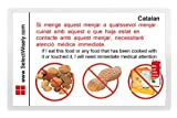 Nuts, Peanuts and Milk Allergy Translation Card - Translated in Indonesian or any of 67 languages