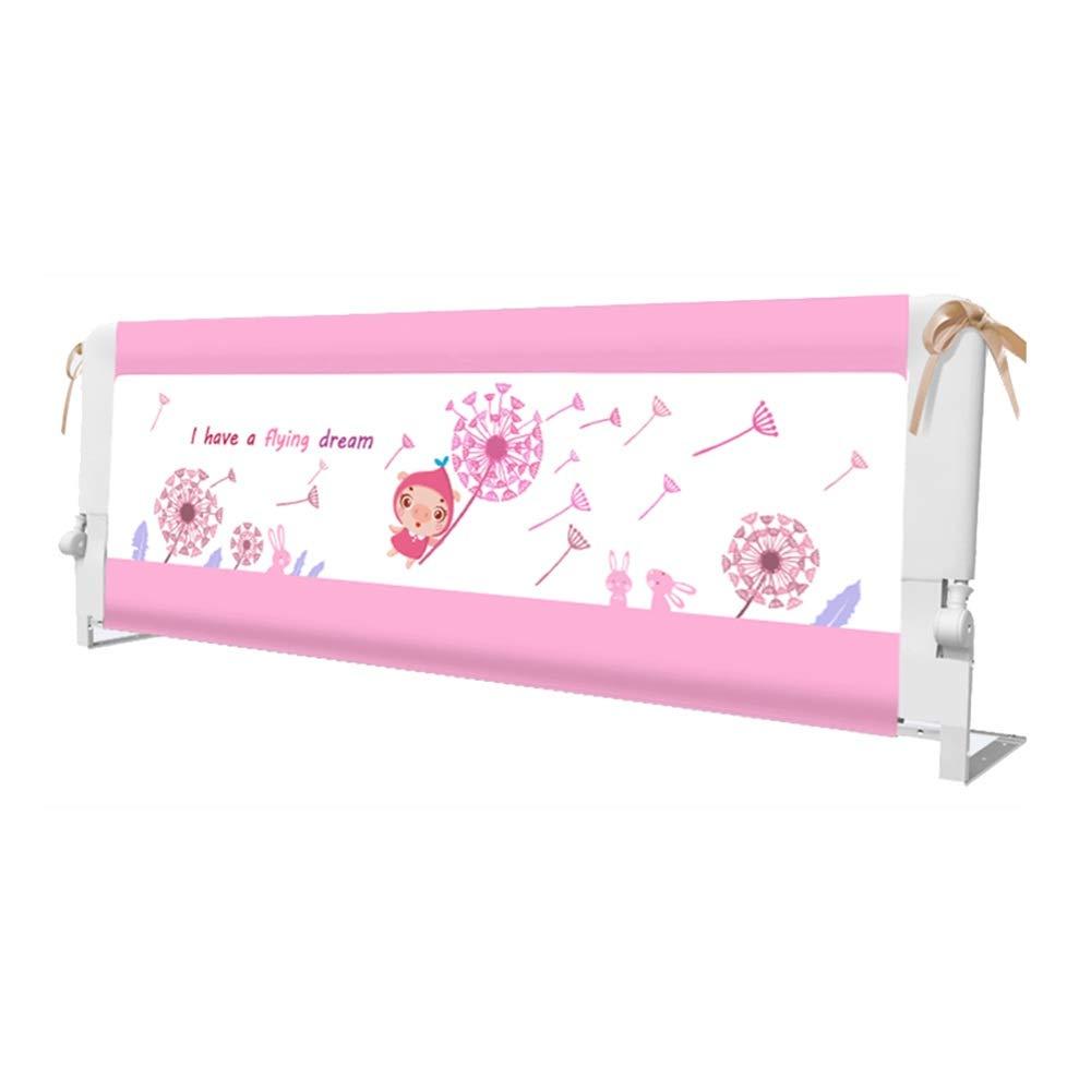 LHA ベッドガードフェンス 作り付けのベッドのサラウンドフォール安全アームレスト - 150 Cm、180 Cm、200 Cmベッドフェンス (色 : Pink, サイズ さいず : L-200cm) L-200cm Pink B07NQ2Z53N