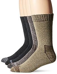 Dickies Men's 4-Pack Marled Moisture Control-Accented Heel/Toe Assort Crew Socks
