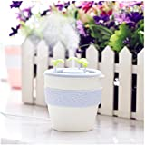 FUT Travel Size Air Purifiers PP Diffusers Ceramics Anion Potted Plants Bonsai Humidifier Portable USB Desktop Cool Mist Purifiers 220ML