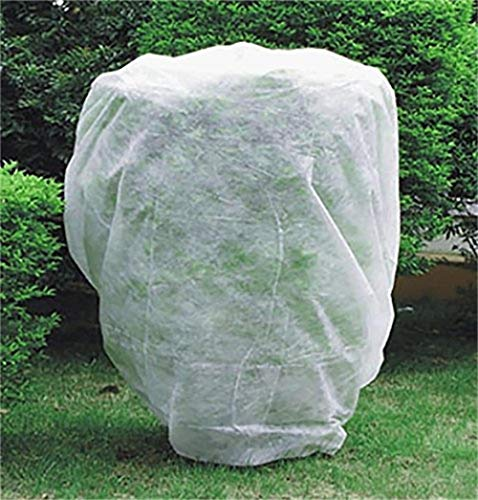 UniEco 0.9 oz Plant Cover Frost Protection Cover Drawstring Bag for Tree/Shrub/Potted Plants W6 xH30