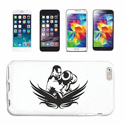 "cas de téléphone iPhone 7S ""BODYBUILDER AVEC MASSES BODYBUILDING GYMNASE Musculation GYMNASE muskelaufbau SUPPLEMENTS WEIGHTLIFTING BODYBUILDER"" Hard Case Cover Téléphone Covers Smart Cover pour Apple"