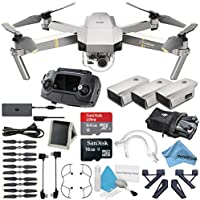 Platinum DJI Mavic Pro Quadcopter Drone 3 Battery Bundle