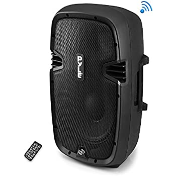 Pyle Powered Active Bluetooth PA Amplifier System - 15 Inch Bass Subwoofer Loudspeaker w/Built-in USB for MP3 - DJ Party Portable Sound Stereo Amp Sub for ...