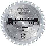 Freud LM74M010 10-Inch 30 Tooth TCG Glue Line Ripping Saw Blade with 5/8-Inch Arbor and Silver ICE Coating