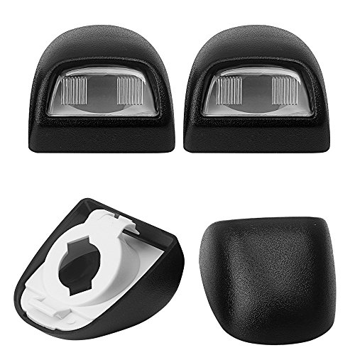 - Black Perfect Replacement 22794700 Rear License Lamp Plate Light Assembly Covers Lens for GM GMC Chevy Chevrolet Cadillac Truck Pickup SUV Pack of 2