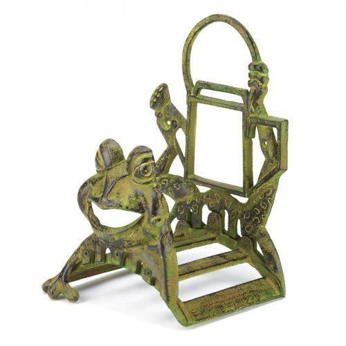 Koehler Home Decorative Cast Iron Frolicking Frog Garden Yard Hose Organizer