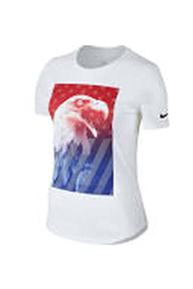 womens nike white team usa eagle t-shirt