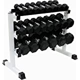 Ader Octagon Rubber Dumbbell Set 2-50 lbs (12 Prs) 570lb w/Rack & Free Mat