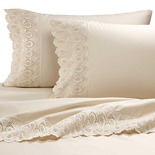 AURAA Smart 600 Thread Count Cotton Rich, 4 Piece Sheet Set, King Sheets, 16