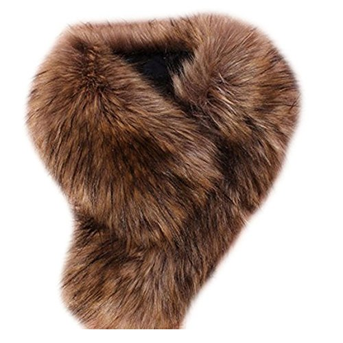 Faux Fur Collar Scarf Fluffy Neck Warmer Shawl S Clothes
