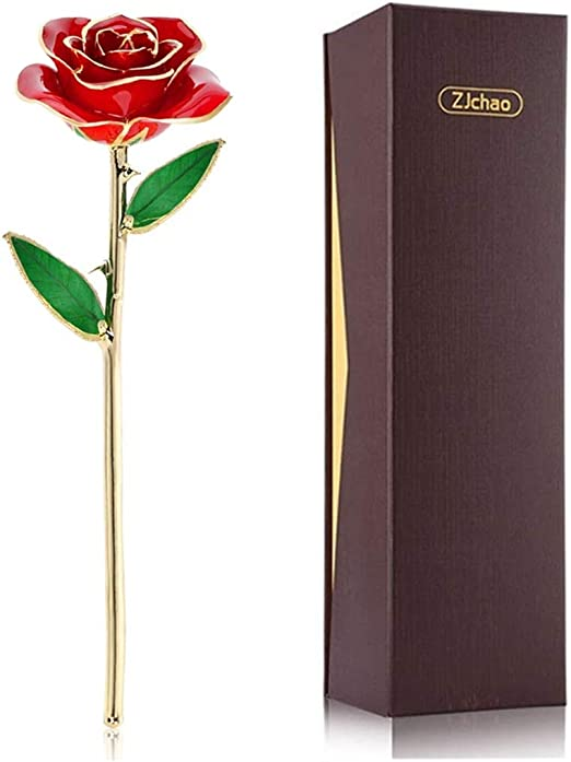 LOVE PHOTO FRAME GOLD FOIL ROSE GIFT FLOWER VALENTINES DAY WIFE  GIRLFRIEND