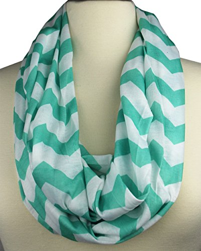 womens-chevron-patterned-infinity-scarf-with-zipper-pocket-light-teal