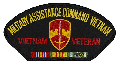 """MACV - Military Assistance Command Vietnam Veteran - Iron-on Embroidered Patch 5 1/4"""" x 2 3/4"""""""
