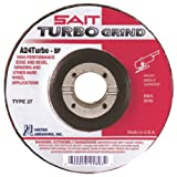 United Abrasives-SAIT 25807 7 by 1/4 by 7/8 A24 TURBO Type 27 Grinding Wheel, 25-Pack