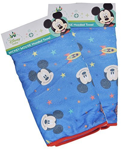Mickey Square Hooded Towel, Microfiber with Printed Wrap by Disney