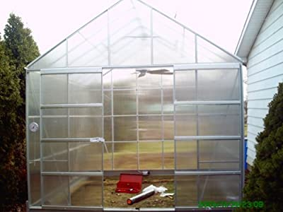 12 X 10 Polycarbonate Aluminum Framed Steel Base Greenhouse