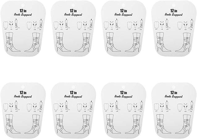 Fittoway - 8 Piezas de plástico PP para moldear Botas con Soporte para Botas Altas con impresión para Mujeres/Parrilla/Dama 12.6 Pulgadas: Amazon.es: Hogar