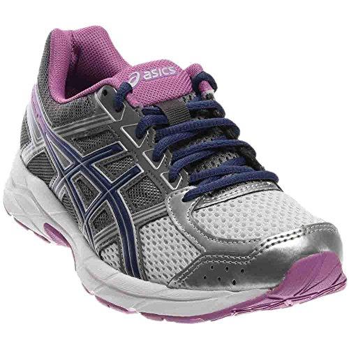 ASICS Women's Gel-Contend 4 Running Shoe, Silver/Campanula/Carbon, 5 M US