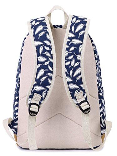 Longzibog Dual verstellbare Schultergurte und Hängeschlaufenband 2016 Neue Maedchen Rucksack Schulranzen Schwarz TGy6M