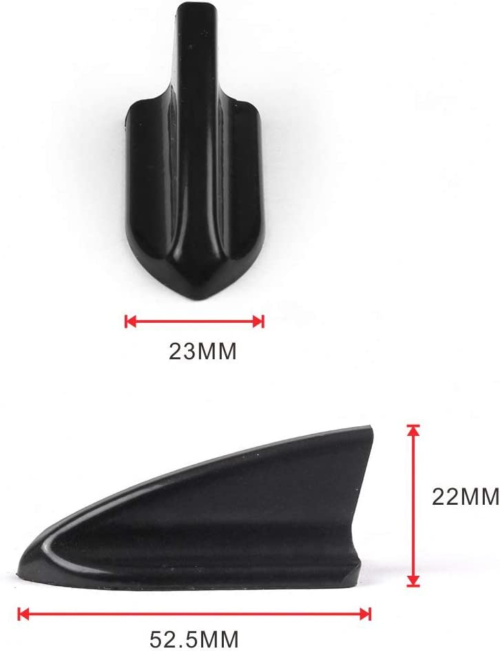 CAROJO Universal 10Pcs//Set ABS Spoiler Wing Kit Car Roof Shark Fins A Black