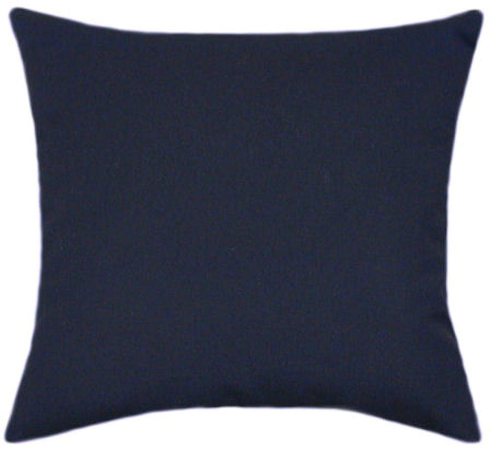 TPO Design Sunbrella Navy Indoor Outdoor Solid Patio Pillow 18×18