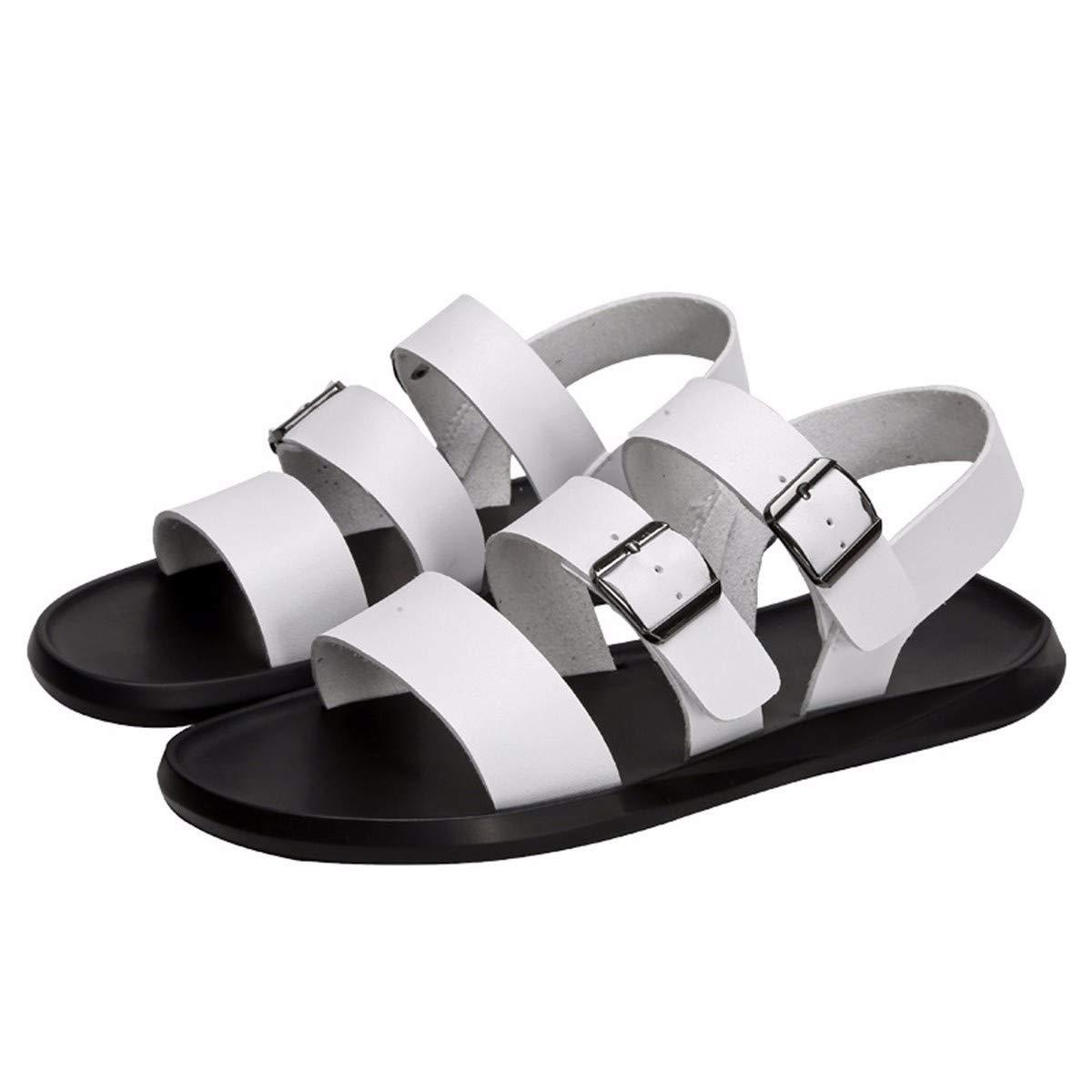 KMJBS Herren Schuhe Herren Sandaleen Sommer Zehen Freizeit Schuhe Weiße Weiche Hose Echtleder
