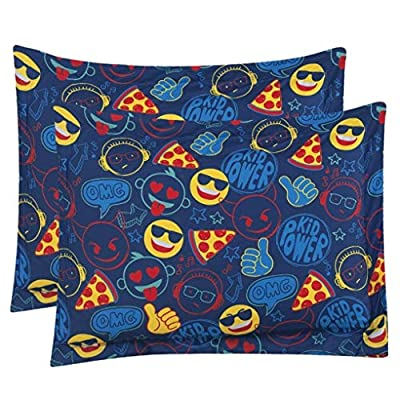 MISC Kids Emoji Comforter Full Size Emoji Bedding Set Kid Power Emoticon Themed Pattern, Polyester: Home & Kitchen