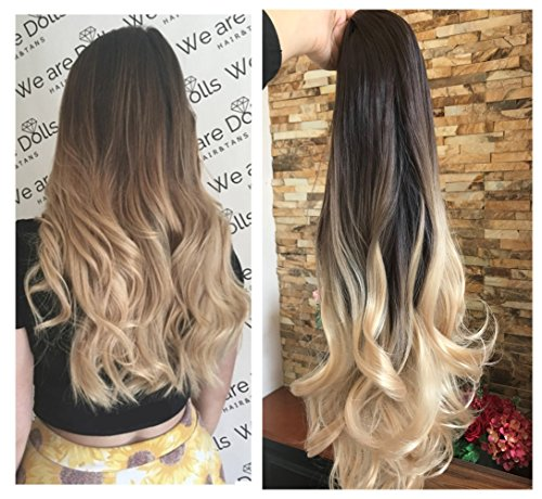 Hair Extensions & Wigs Uk Brown Clip In Hair Extensions Synthetic 1pc Thick Long Straight 3/4 Full Head