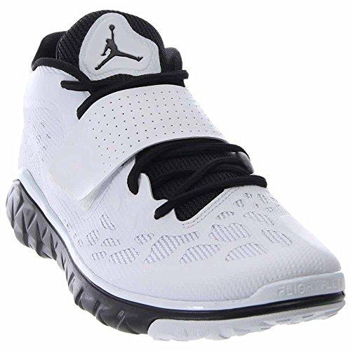 Jordan Nike Men's Flight Flex Trainer 2 Black/White/Black Basketball Shoe 10 Men US