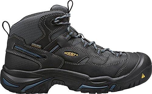 Keen Utility Mens Braddock Mid Waterproof Soft Toe Work Boot  Raven Estate Blue  9 5 D Us