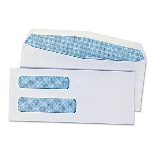 Universal Double Window Check Envelope, #8 5/8, White, 500/Box (36300) by Universal