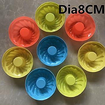 Bricolaje cocina cocción 6 formas redondas Silica gel pastel Muffin molde molde de gelatina Copa familia: Amazon.es: Bricolaje y herramientas