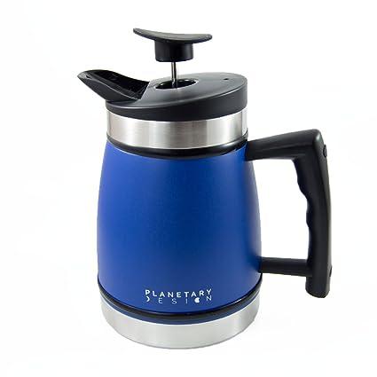 Planetary Design Prensa francesa mesa café y jarra de té con la tecnología Bra¼stop 32 acero