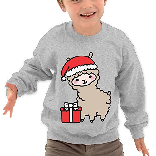Price comparison product image Puppylol Llamas Christmas Kids Classic Crew-neck Pullover Hoodie Ash 3 Toddler